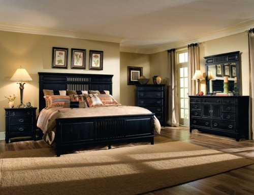 Black Furniture with Brown Colors