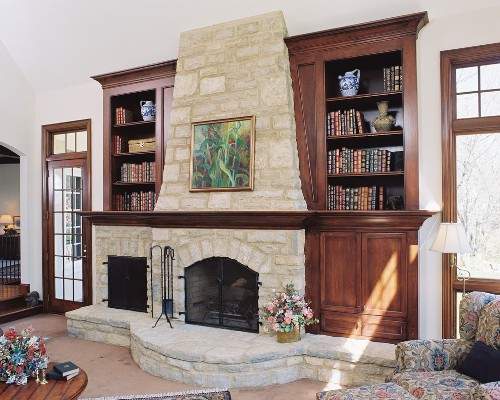Bookshelves Around a Fireplace Ideas