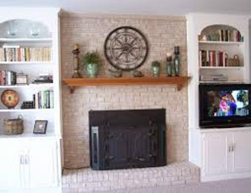 Brick Fireplace Decor