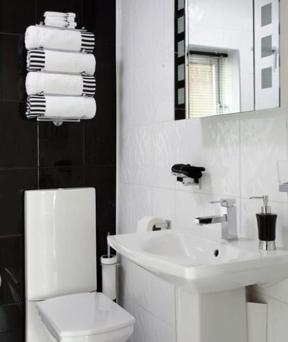 Classic Bathroom in Black and White