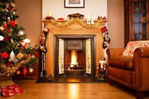 Fireplace Design at Christmas