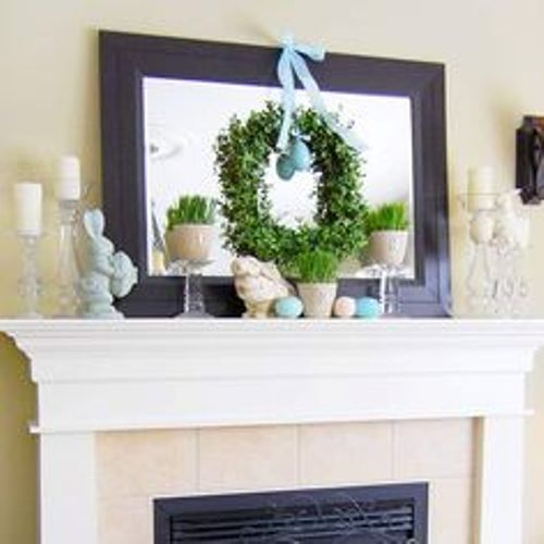 Fireplace Mantel for Easter