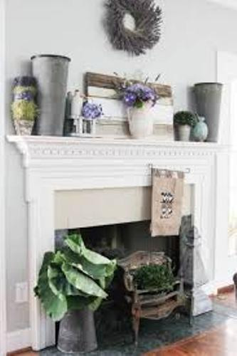 Fireplace Mantel for Summer Decoration