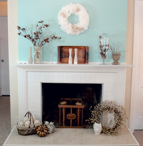 Fireplace Mantel for Summer Season