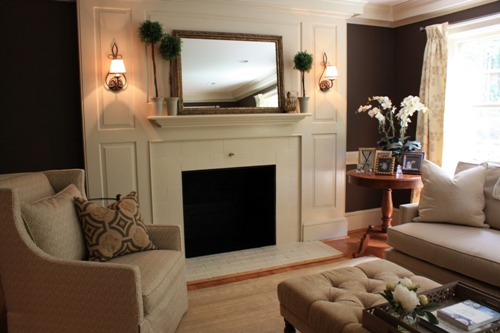 Fireplace Mantel with a Mirror Design