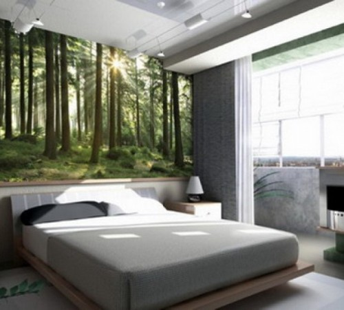 Forest Wall Painting