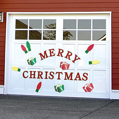 Garage Door for Christmas Decor