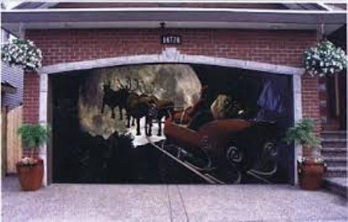 Garage Door for Christmas Design