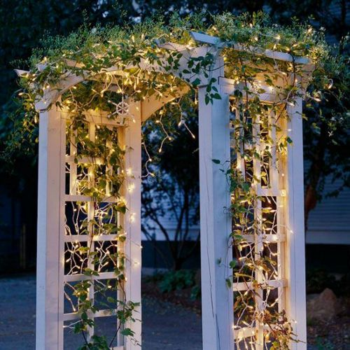 Garden Trellis with Lights