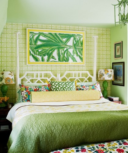 Green Wall Painting