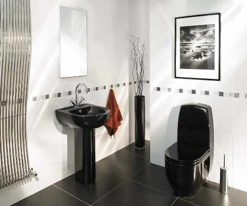 How to Decorate Bathroom in Black and White