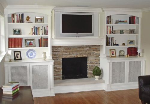 How to Decorate Bookshelves Around a Fireplace