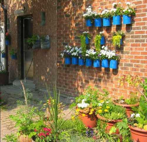 how to make a over fence shelf for plants brick