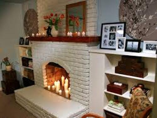 How to Decorate a Brick Fireplace