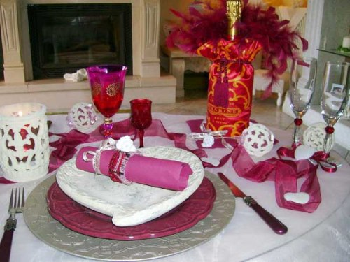 Ways to create inexpensive valentine s day table