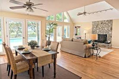 How to decorate living room and dining room combined 5 tips to follow home improvement day for Living room and dining room together
