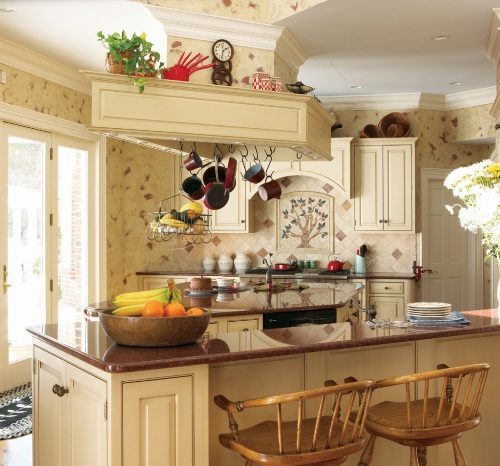 Natural French Country Kitchen