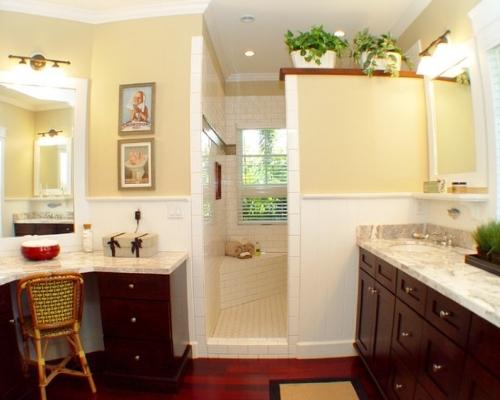 Reddish Brown Bathroom Cabinet