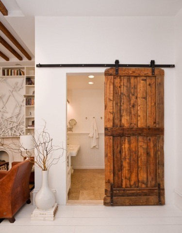 Rustic Bathroom Door