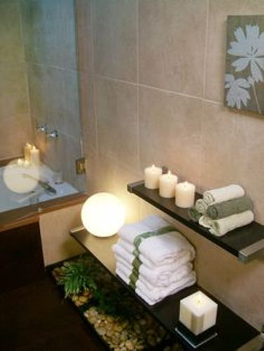 Spa Bathroom with Candles