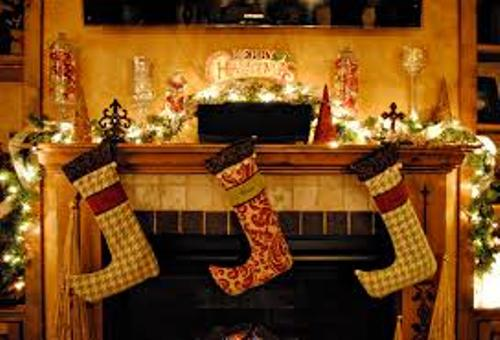 Unique Fireplace at Christmas