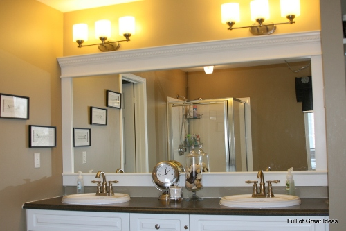 how to decorate a large plain bathroom mirror  5 ideas for