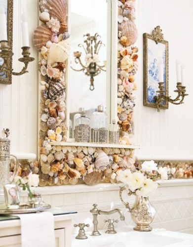 Bathroom Mirror Frame with Shell