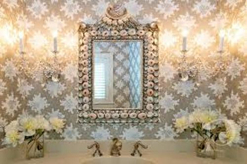 Bathroom Mirror Frame with Shells