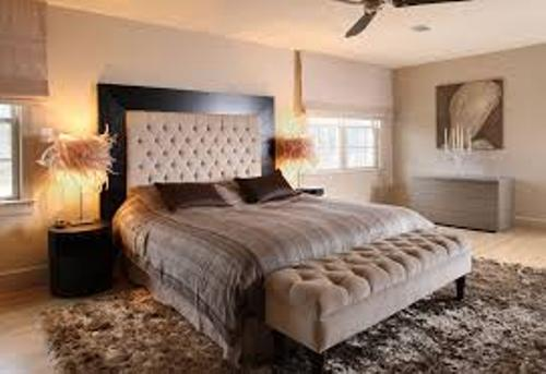 Bedroom with Beige Walls