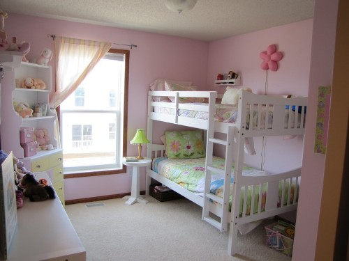 White Bunk Beds Girls Room