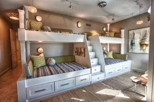 Bedroom with a Bunk Bed for Kids