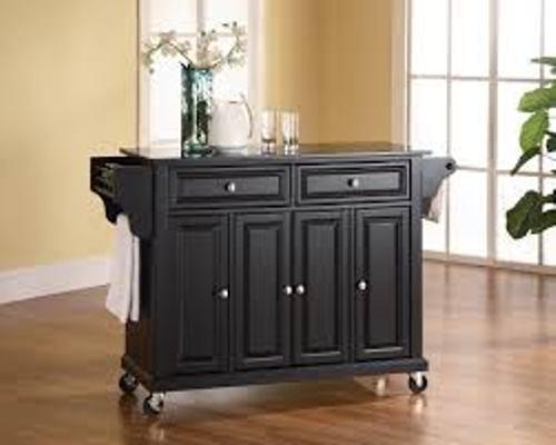 Black Kitchen Cart
