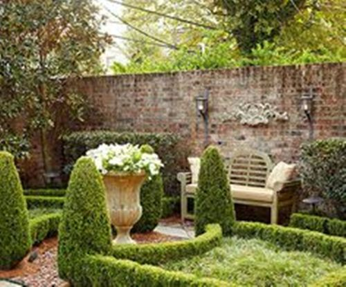 Classic Garden with Bricks