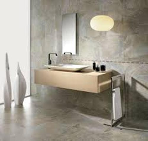 Contemporary Large Bathroom Wall
