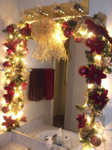Decorative Bathroom Mirror for Christmas