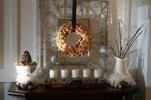 Decorative Fireplace Mantel for Winter
