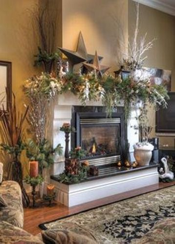 Fireplace Mantel for Winter Day