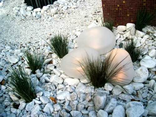 Garden with Pebble Decoration