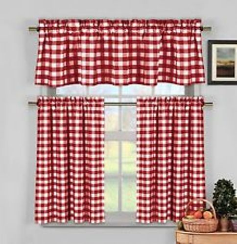 Gingham Kitchen Curtain