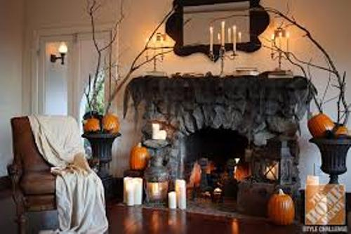 How to decorate a fireplace mantel for halloween 5 ways Scary halloween decorating ideas inside