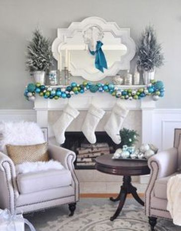 How to Decorate a Fireplace Mantel for Winter