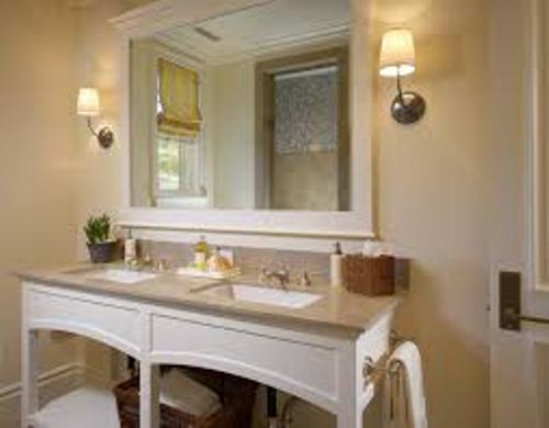 How to Decorate a Large Bathroom Mirror