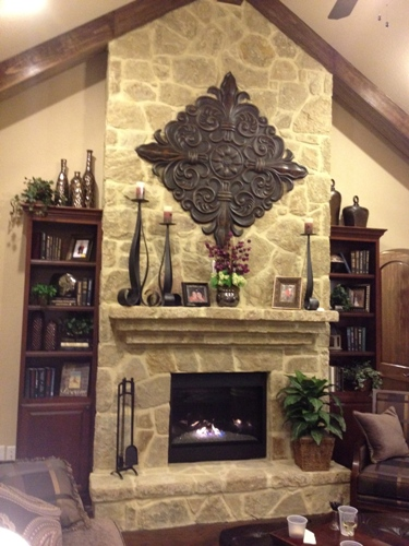 How to Decorate a Rock Fireplace Mantel