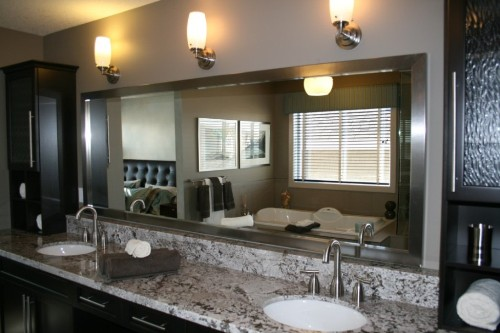 Large Bathroom Wall with Mirror