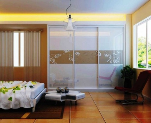 Modern Bedroom with a Sliding Glass Door