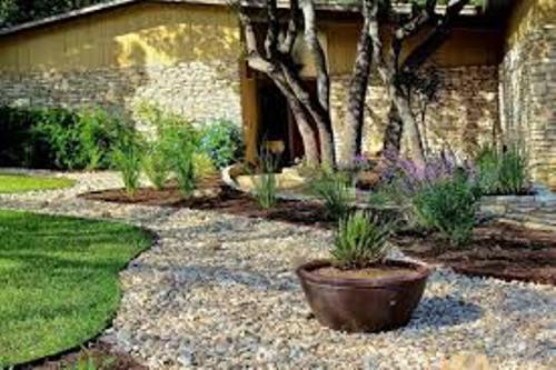 Modern Garden with Rocks