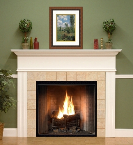 Nice Fireplace Mantel with Pictures