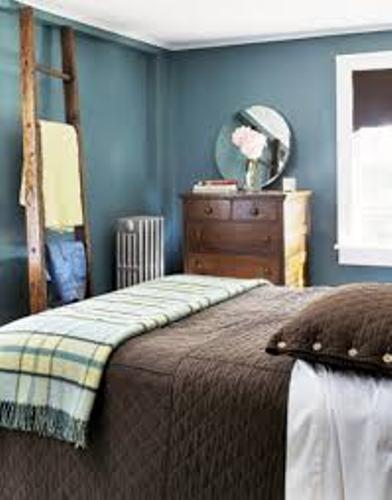 Perfect Room with Blue and Brown