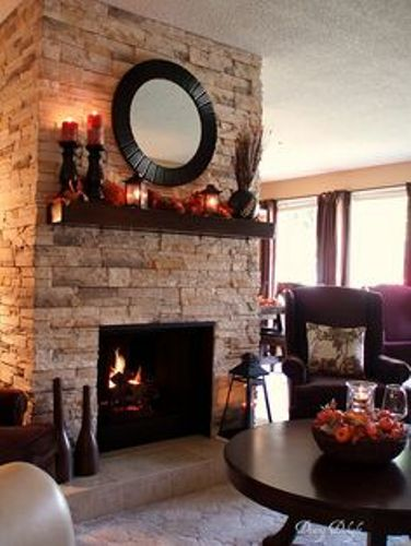 Rock Fireplace Mantel Ideas