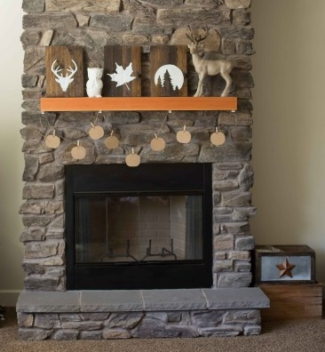 Rustic Fireplace Mantel Design